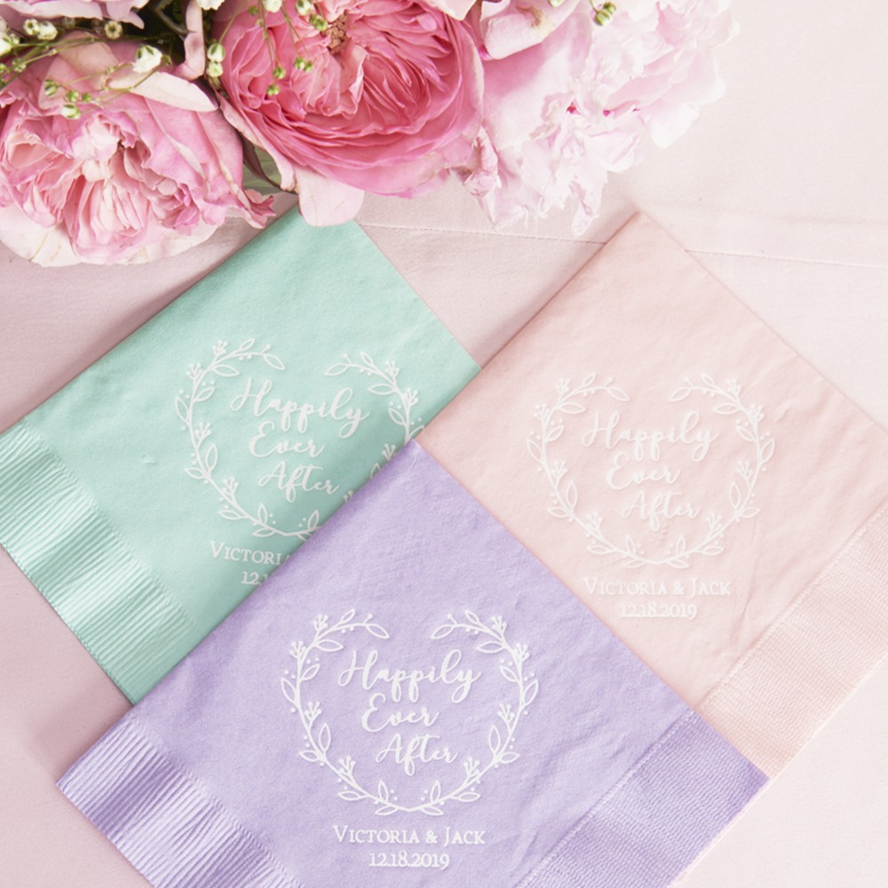 Personalized Happily Ever After Exclusive Wedding Napkins