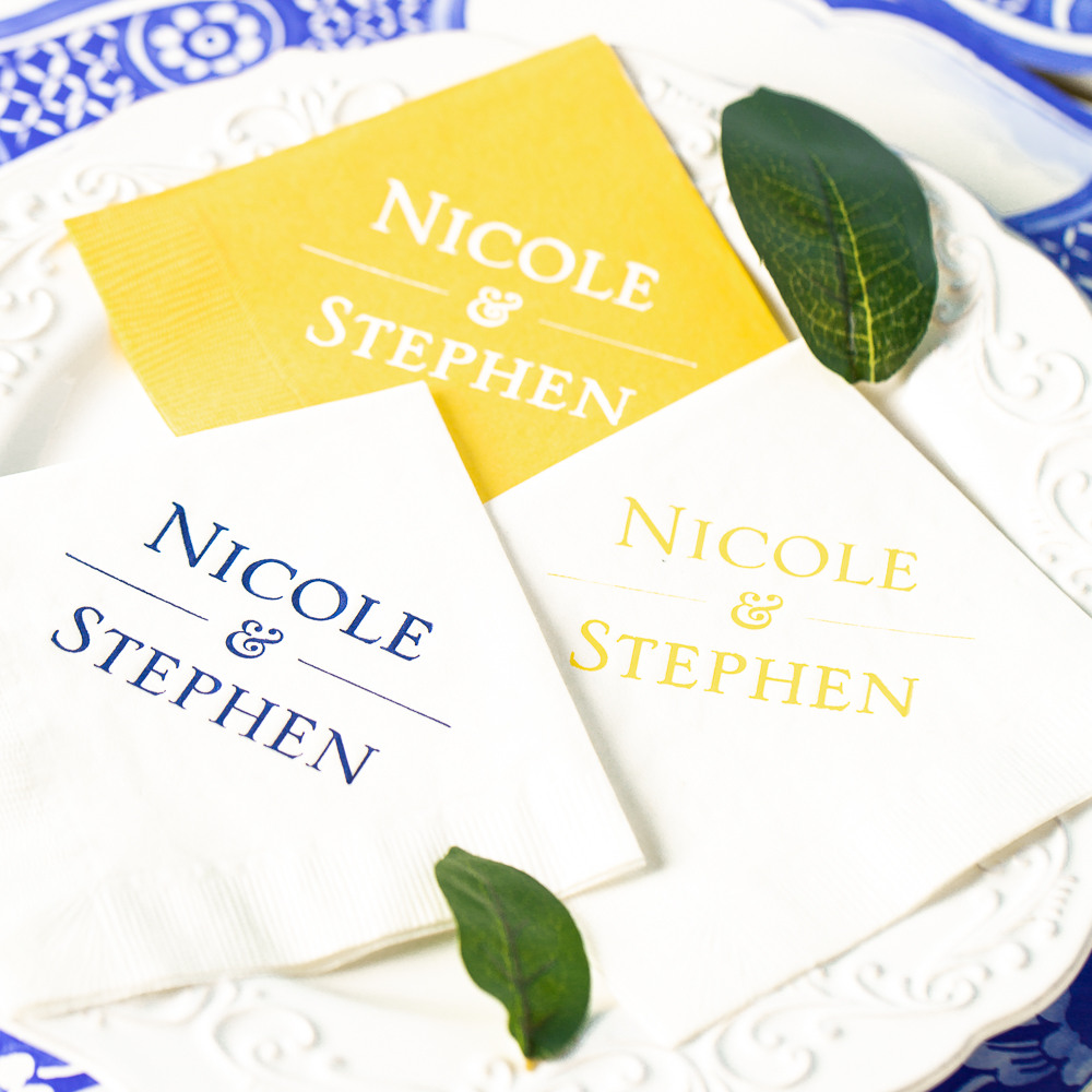 Personalized Citrus Garden Exclusive Wedding Napkins