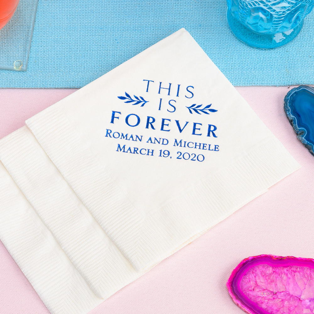 Personalized This is Forever Exclusive Wedding Napkins