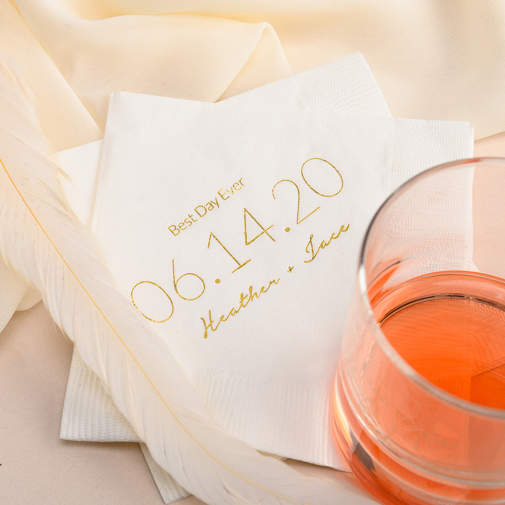 Personalized Wedding Date Exclusive Wedding Napkins