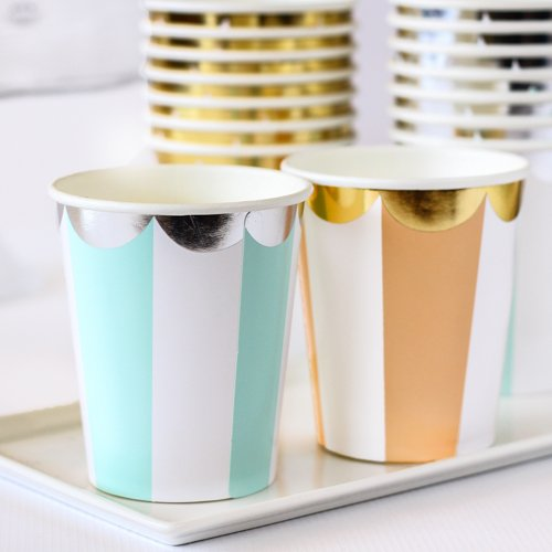 Toot Sweet Scalloped Stripe Party Cups 6819