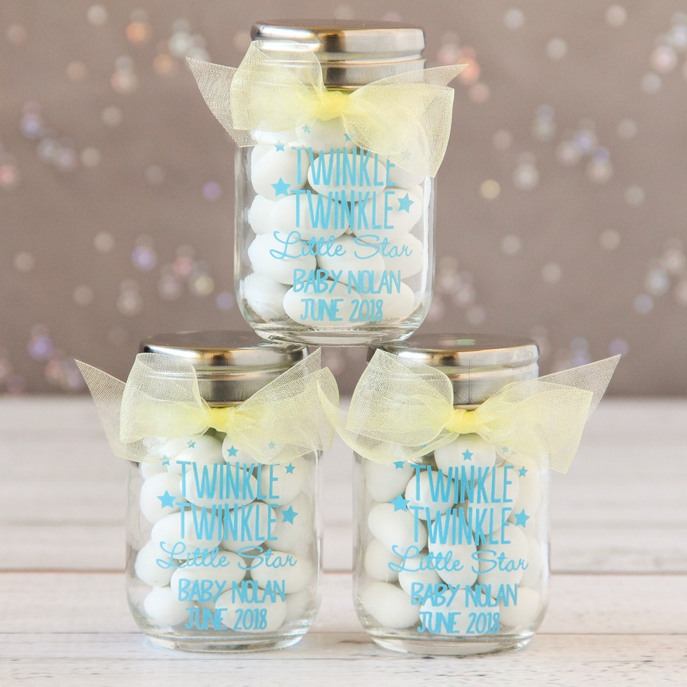 Personalized Twinkle Twinkle Mini Mason Jars