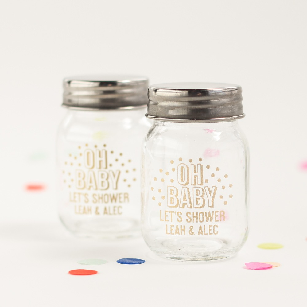 Personalized Oh Baby Mini Mason Jars