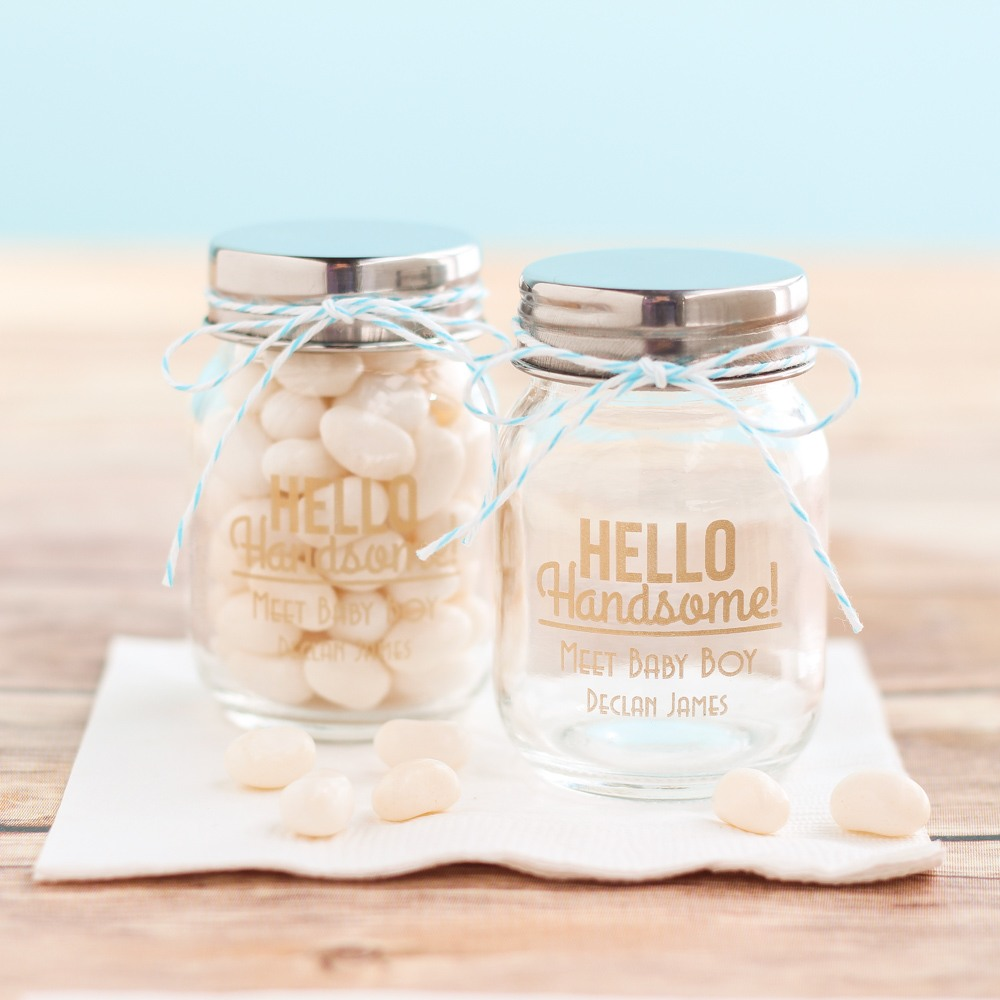 Personalized Hello Handsome Mason Jars