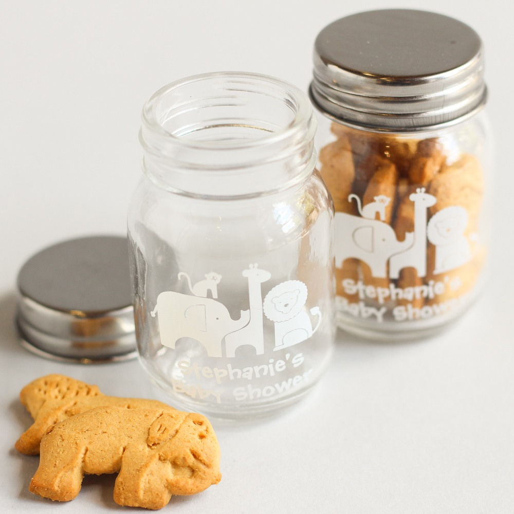 Personalized Safari Mini Mason Jars