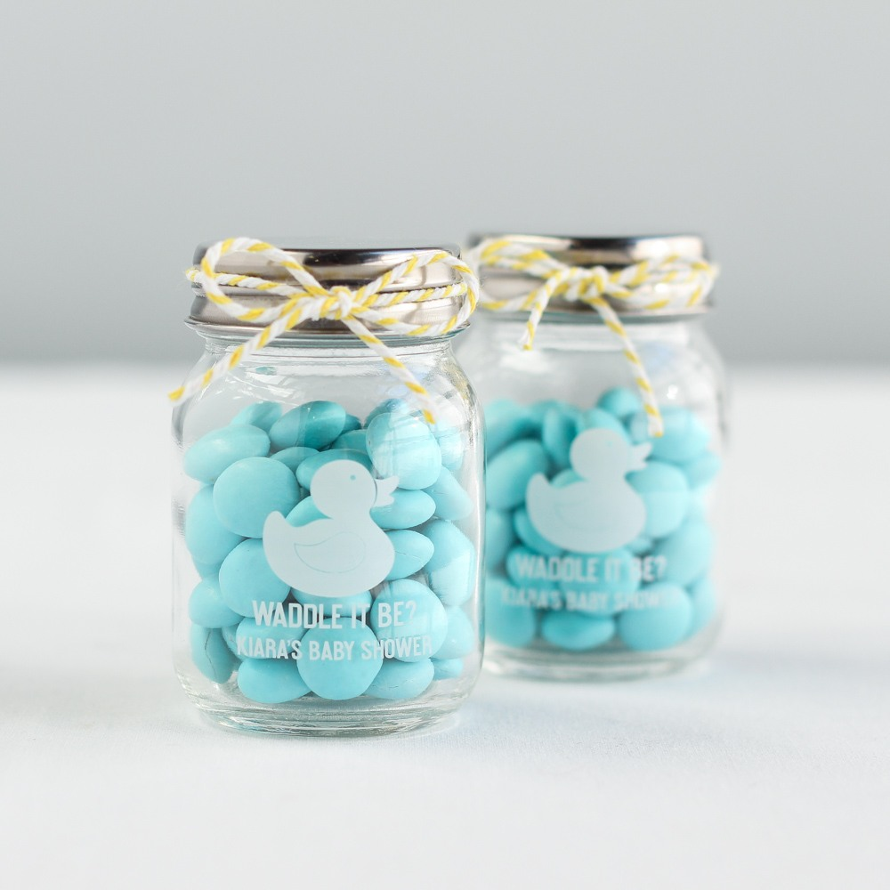 Printed Baby Shower Mini Mason Jars 6866