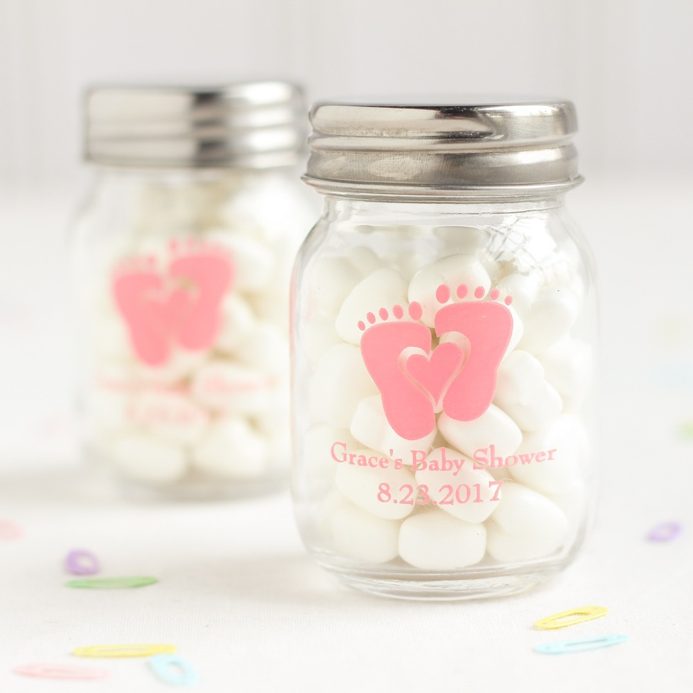 Personalized Baby Feet Mini Mason Jars