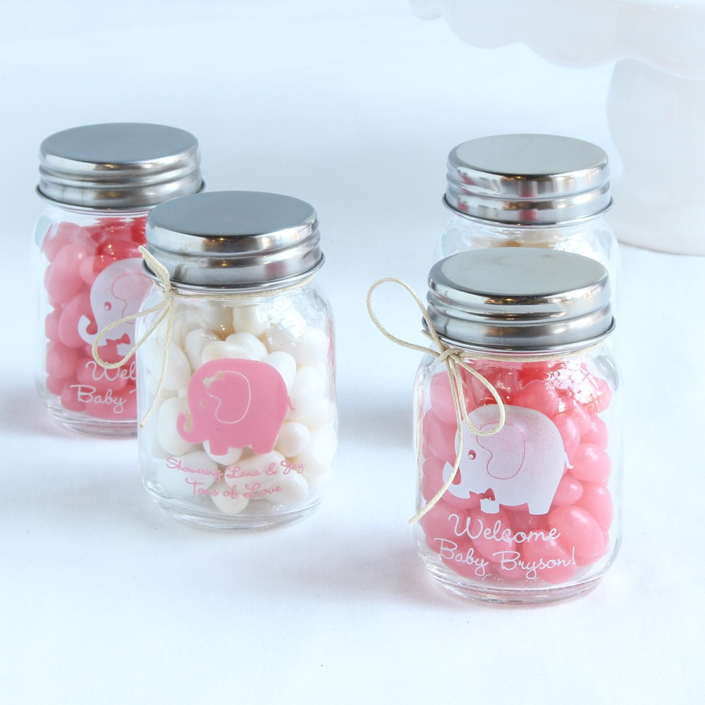 Personalized Elephant Mini Mason Jars