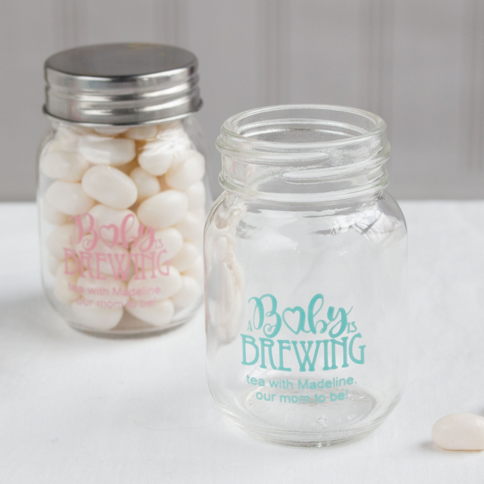 Printed Baby is Brewing Mini Mason Jars
