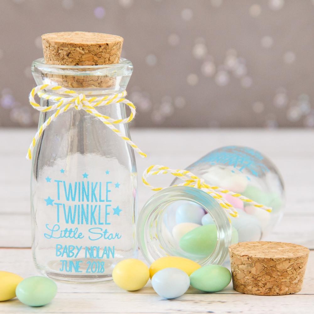Personalized Twinkle Twinkle Vintage Milk Jars