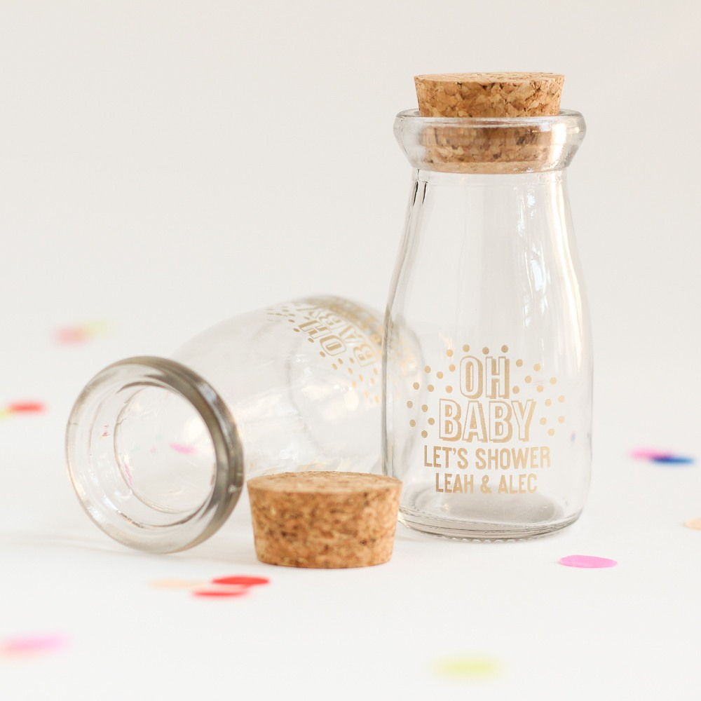 Personalized Oh Baby Milk Jar