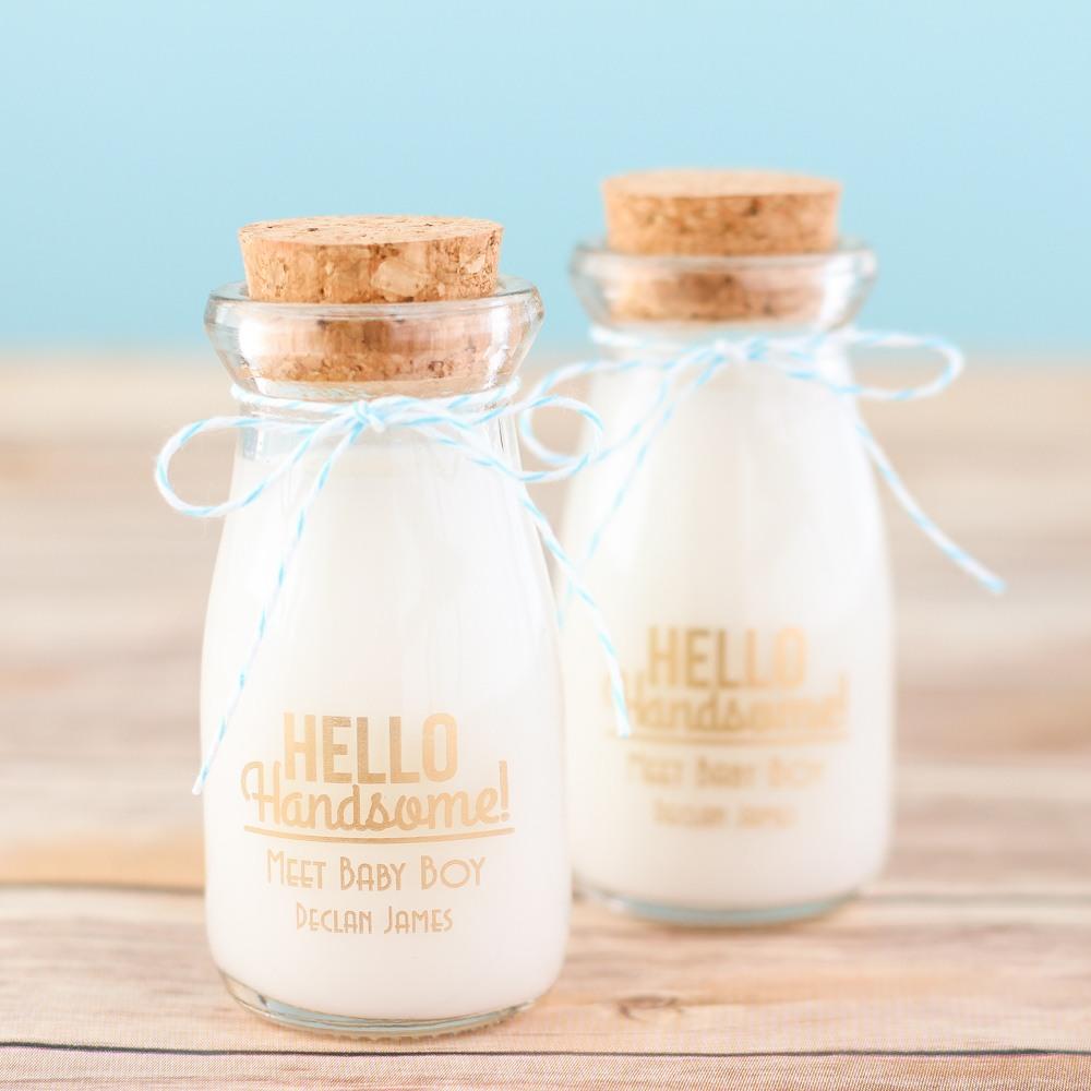 Personalized Hello Handsome Vintage Milk Jar