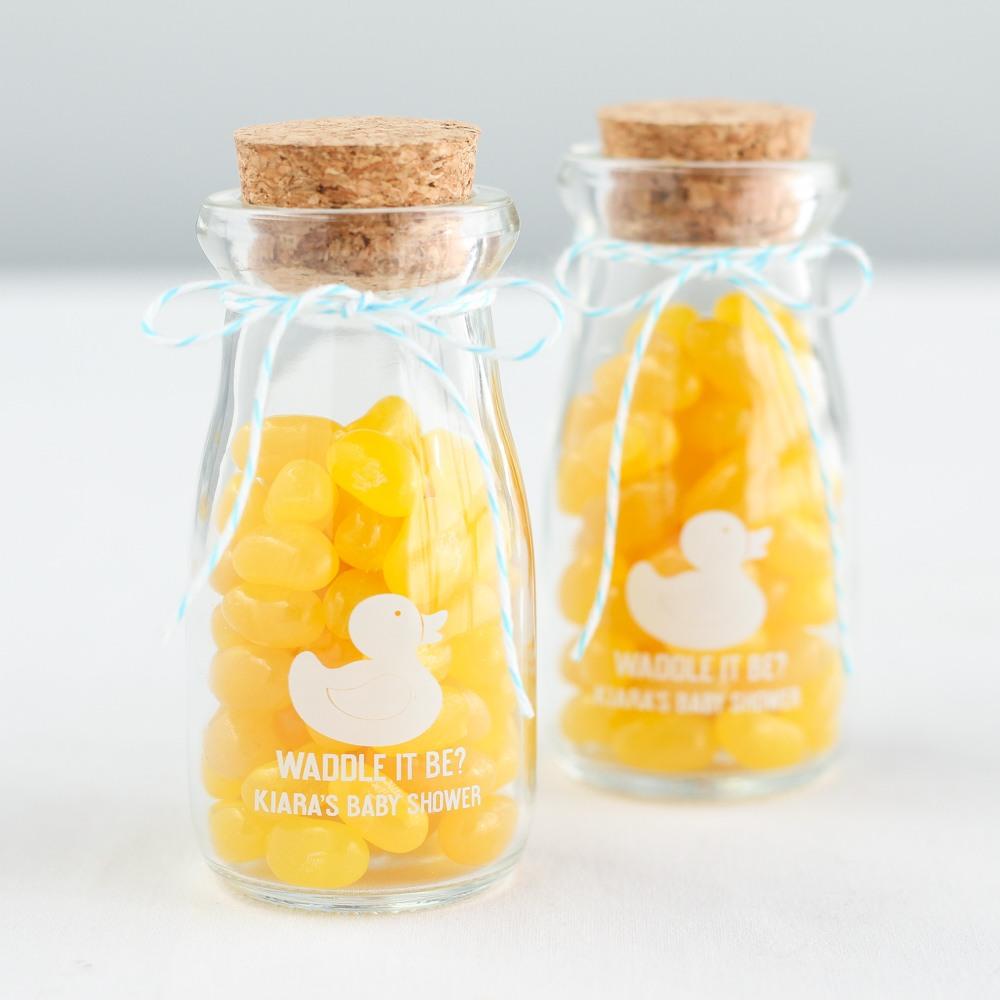 Personalized Printed Baby Shower Vintage Milk Jars 6867
