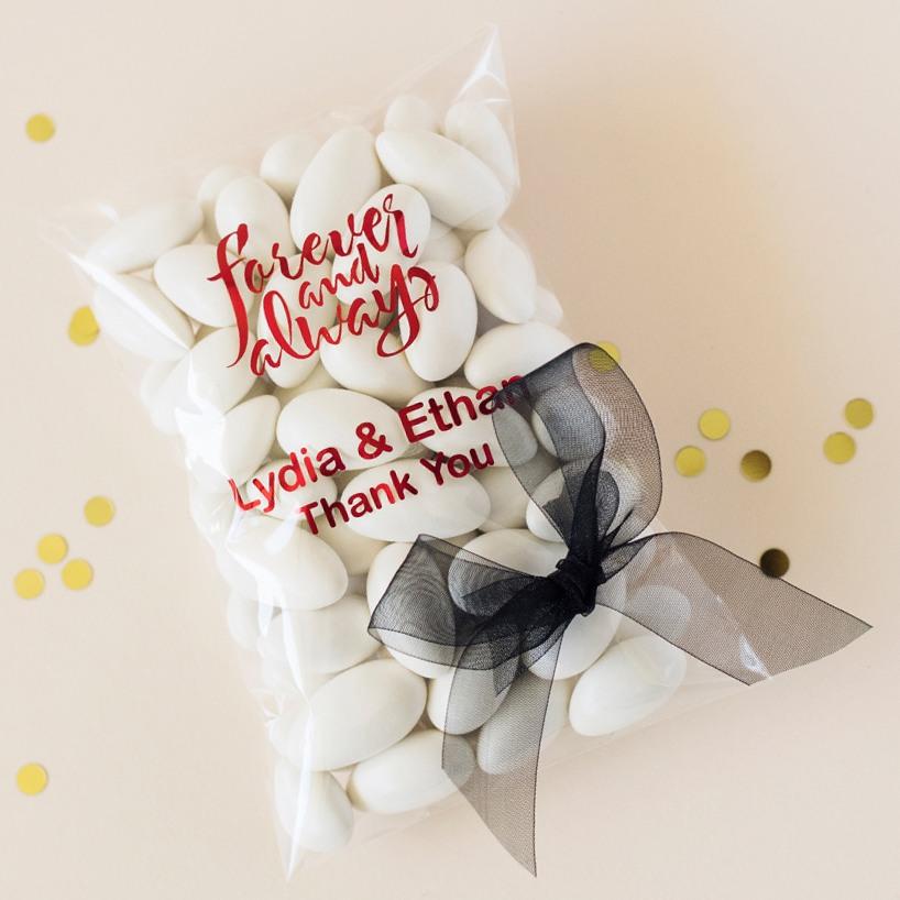 Personalized Bridal Cellophane Bag