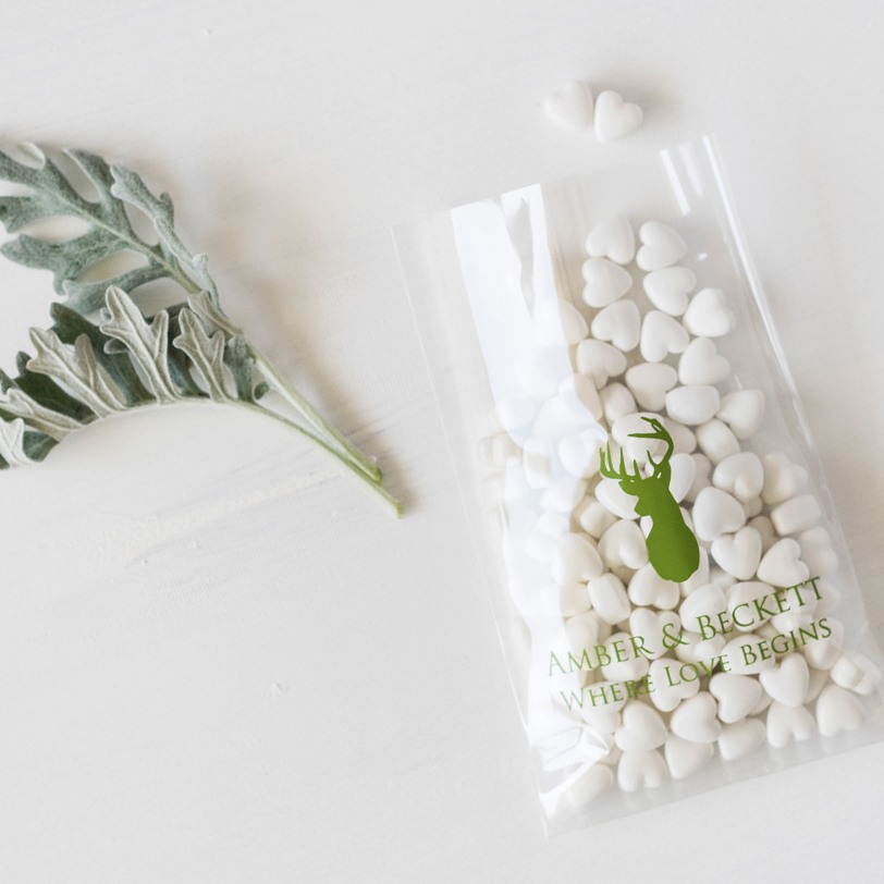 Personalized Woodland Cellophane Bags