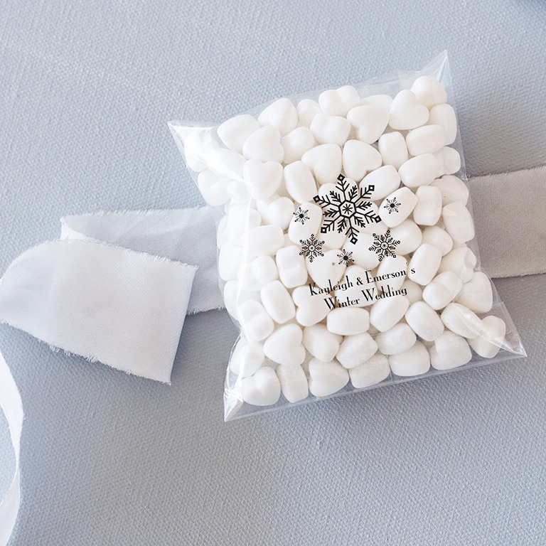 Personalized Winter Themed Cellophane Bags