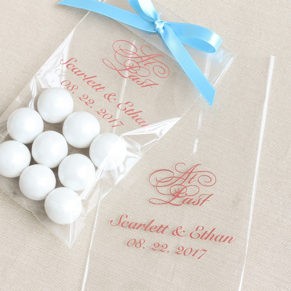 Personalized Fairy Tale Wedding Cellophane Bags
