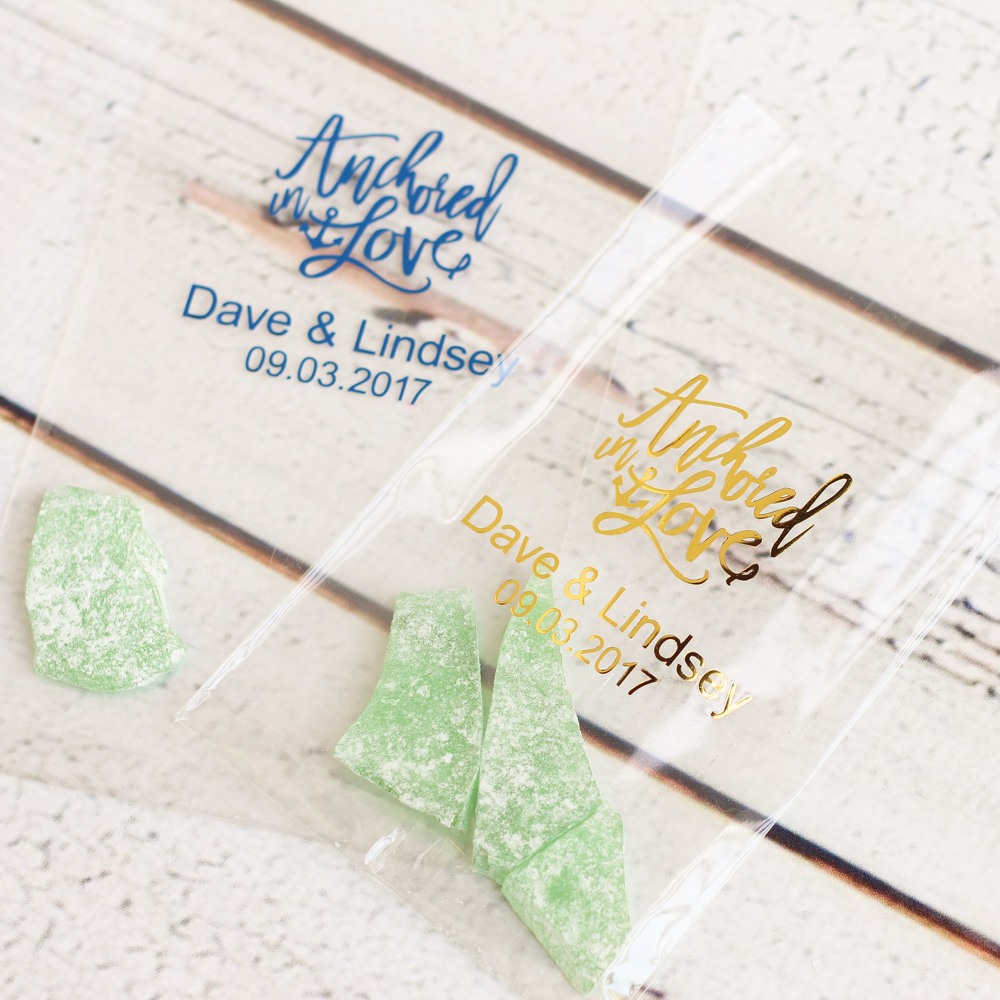 Personalized Wedding Cellophane Bags 6890