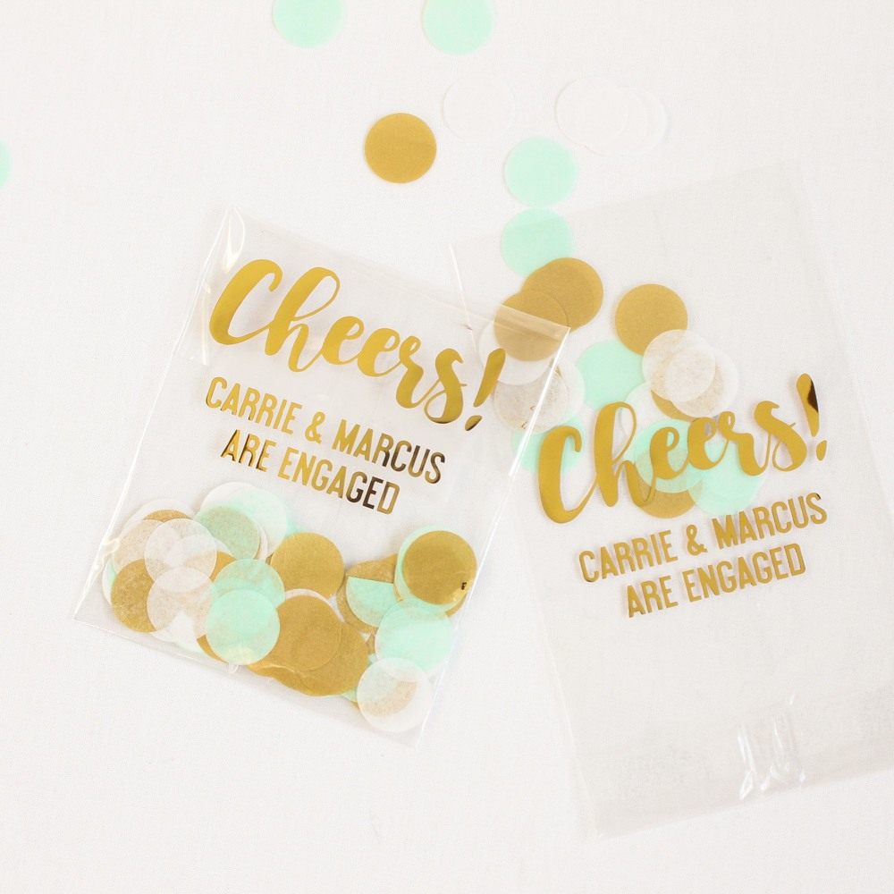 Cheers Design Personalized Cellophane Bags