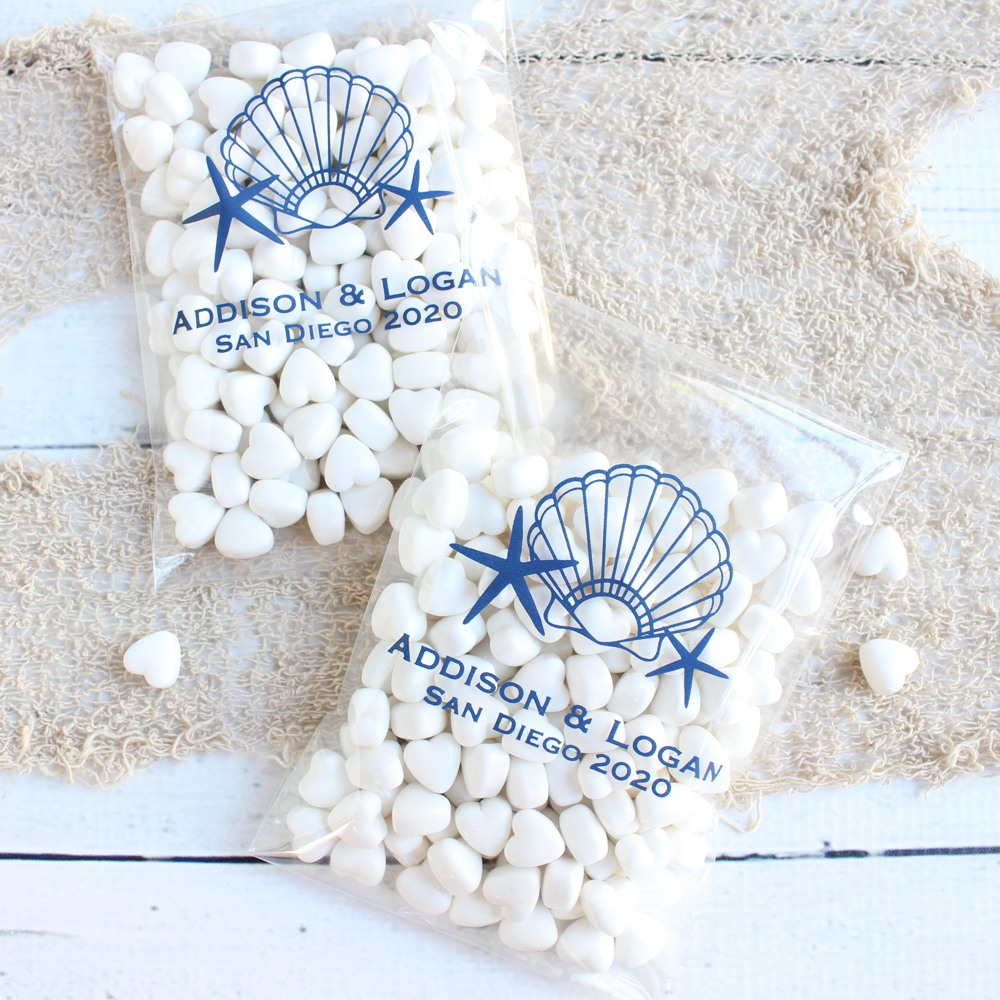 Personalized Seashell Cello Bags