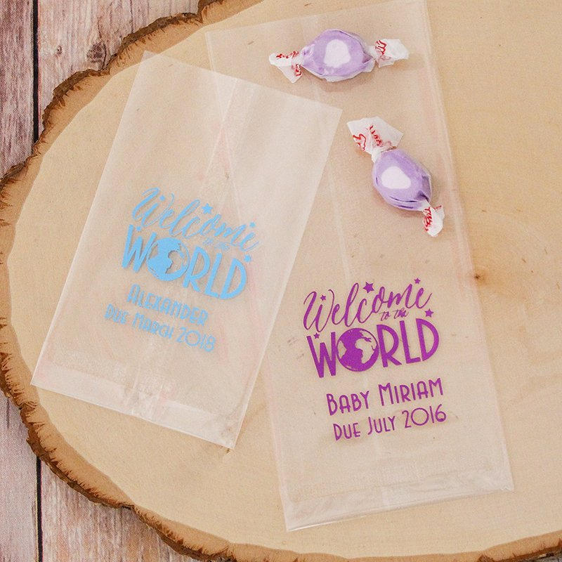 Personalized Baby Cellophane Bags