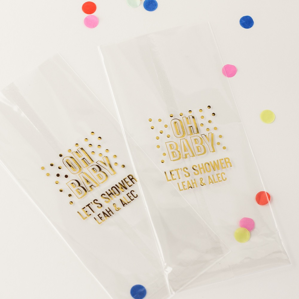 Personalized Oh Baby Cellophane Bag