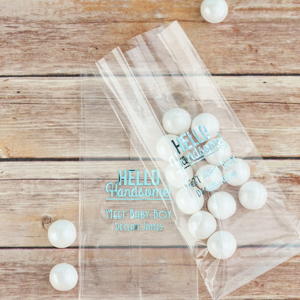 Personalized Hello Handsome Cellophane Bags