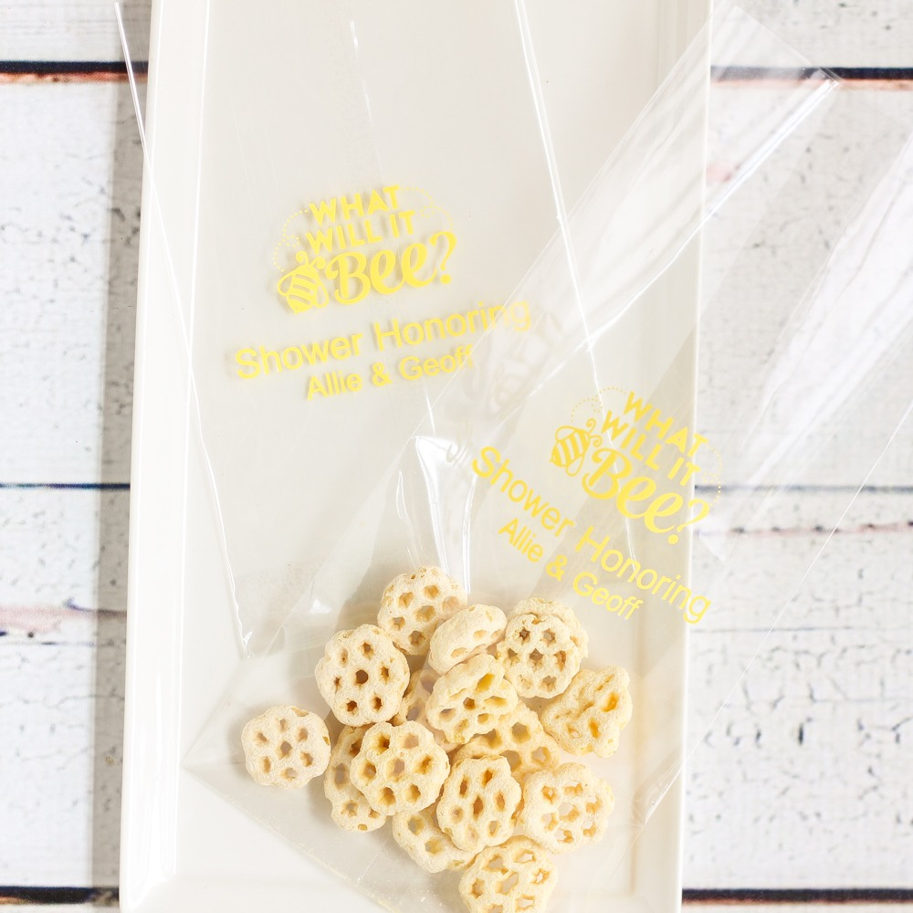 Personalized Bee Cellophane Bag