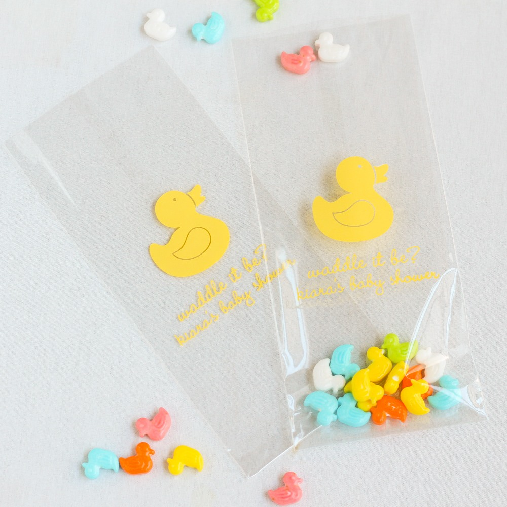 Personalized Duck Cellophane Bags