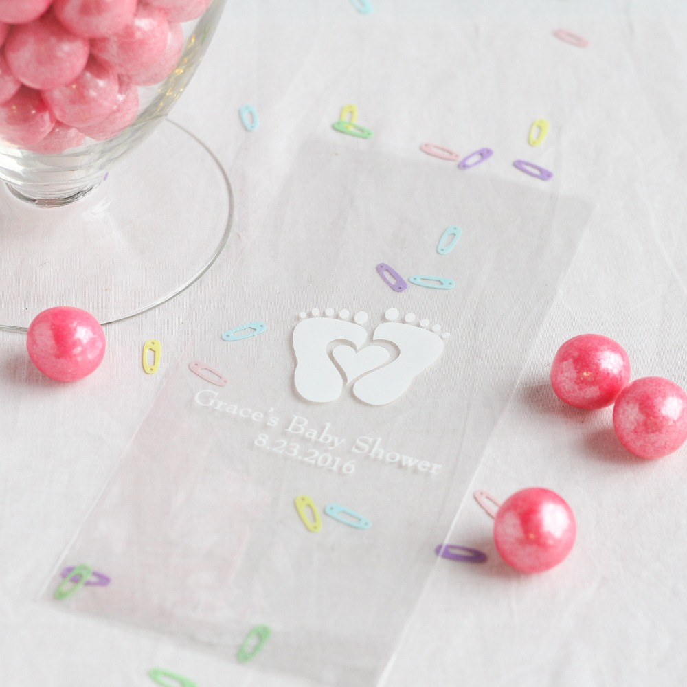 Personalized Baby Feet Cellophane Bags