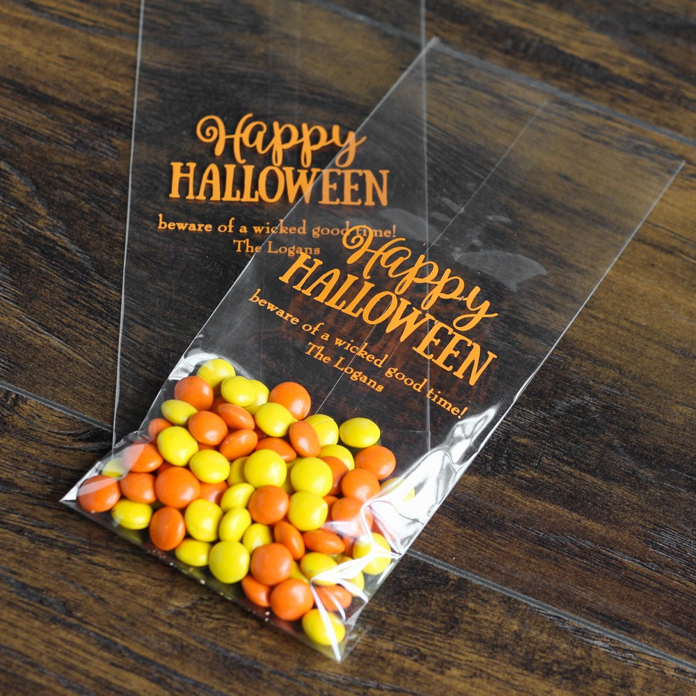 Personalized Halloween Cellophane Bags