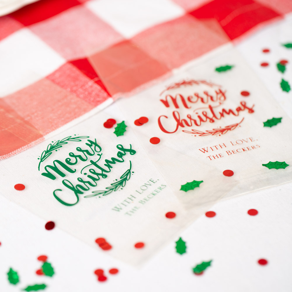 Personalized Happy Holiday's Party Cellophane Bags