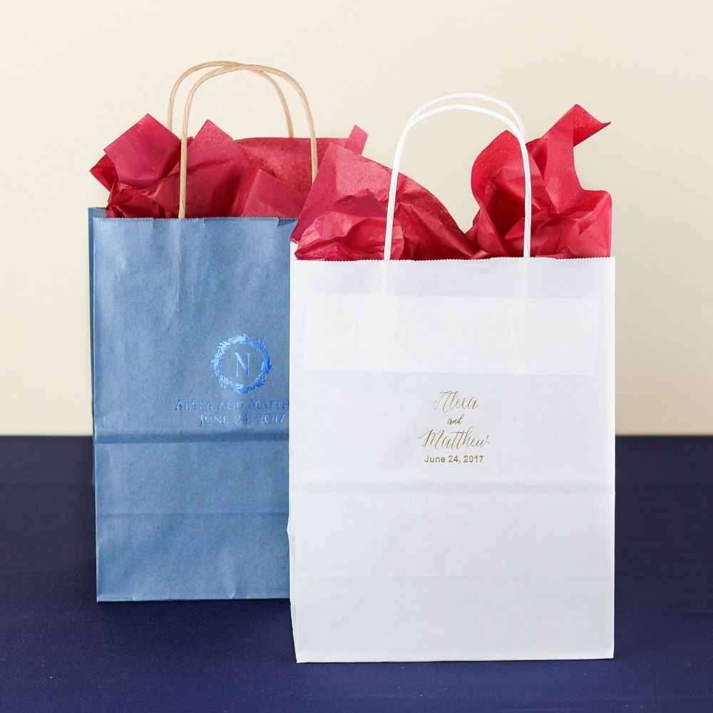 Personalized Modern Luxe Wedding Gift Bags