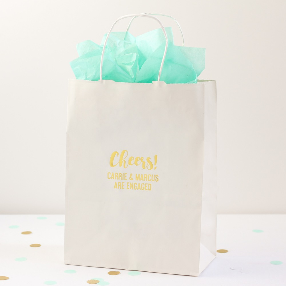 Cheers Design Personalized Wedding Gift Bag