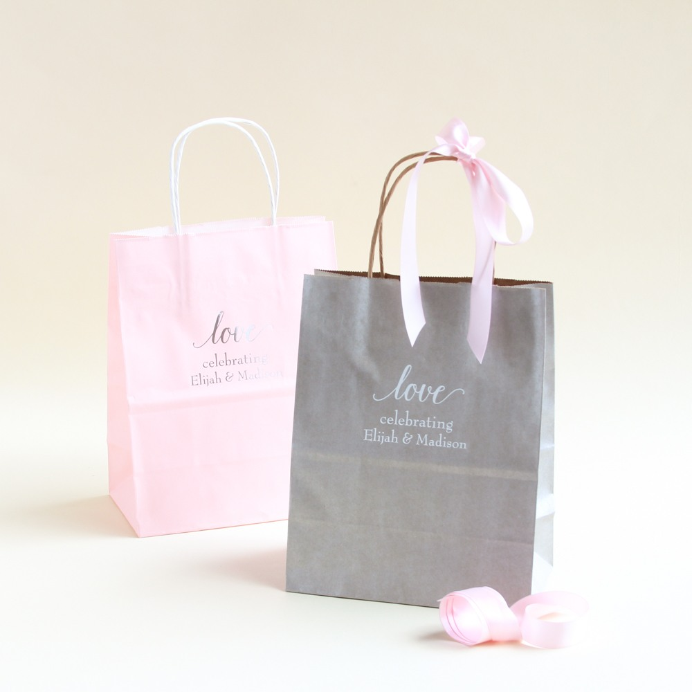 Personalized Love Wedding Gift Bags