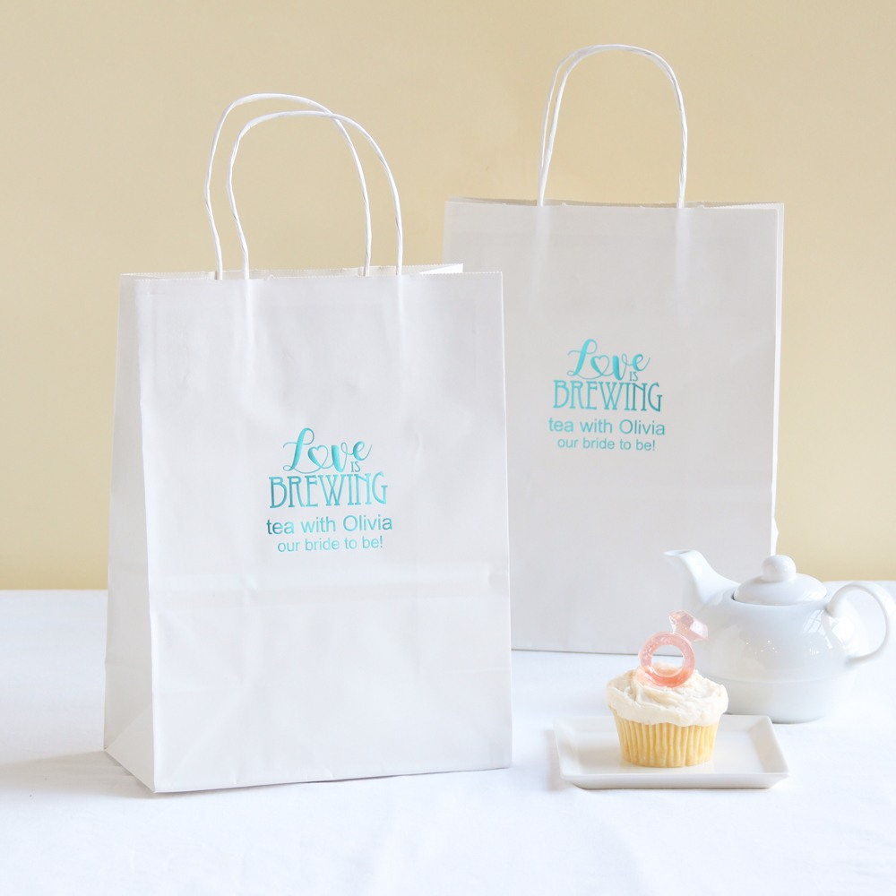 Personalized Love is Brewing Gift Bags