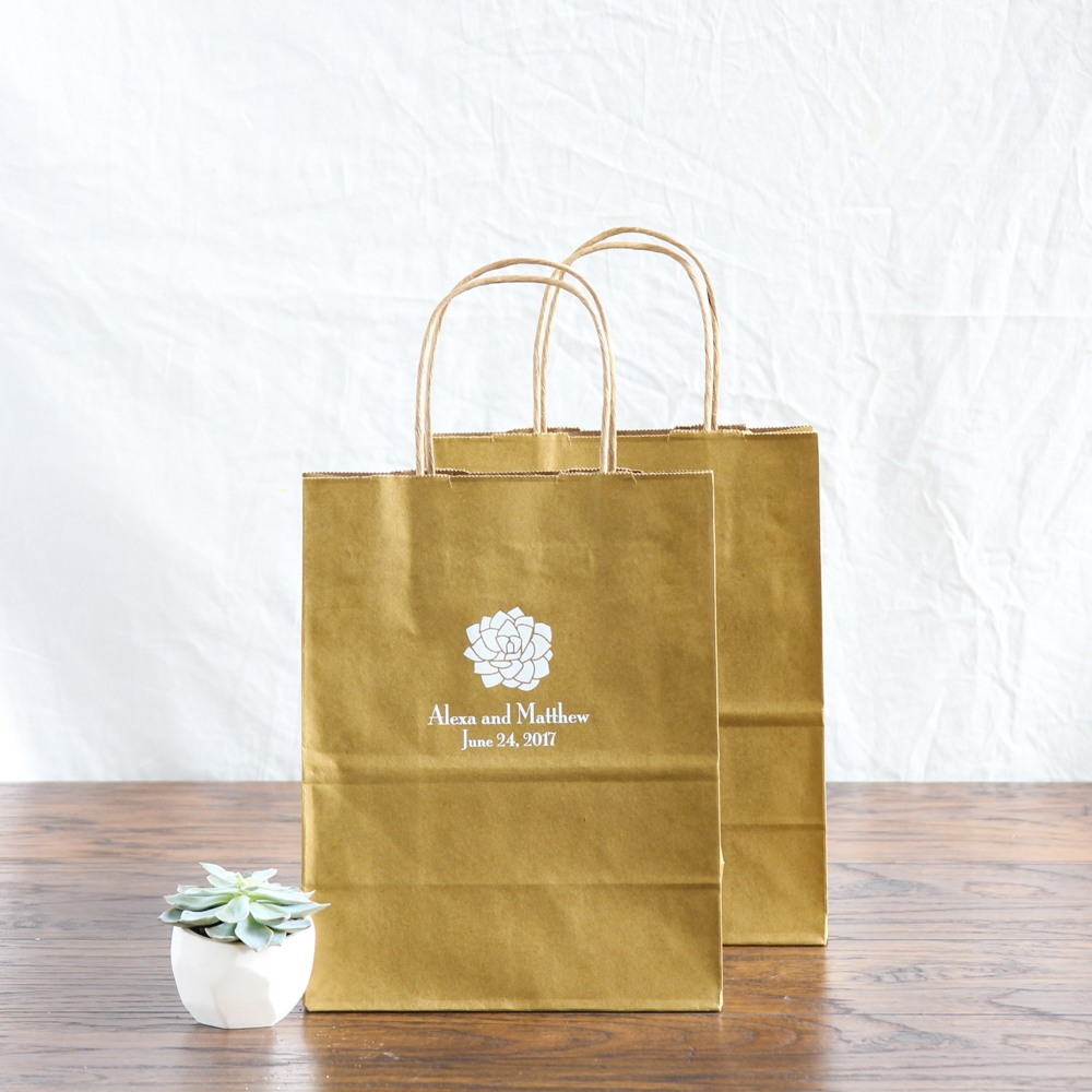Personalized Succulent Gift Bags