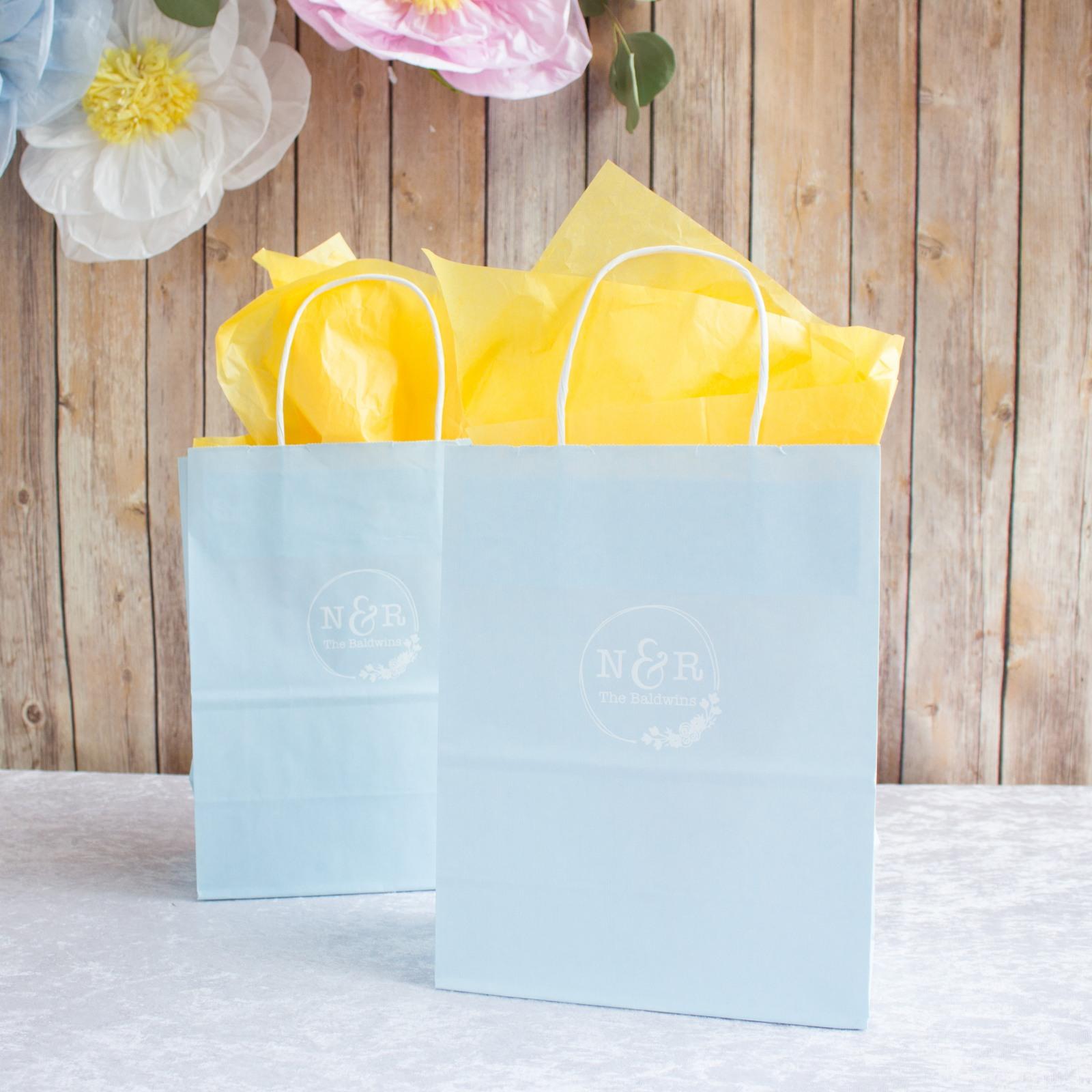 Personalized Botanical Monogram Gift Bags