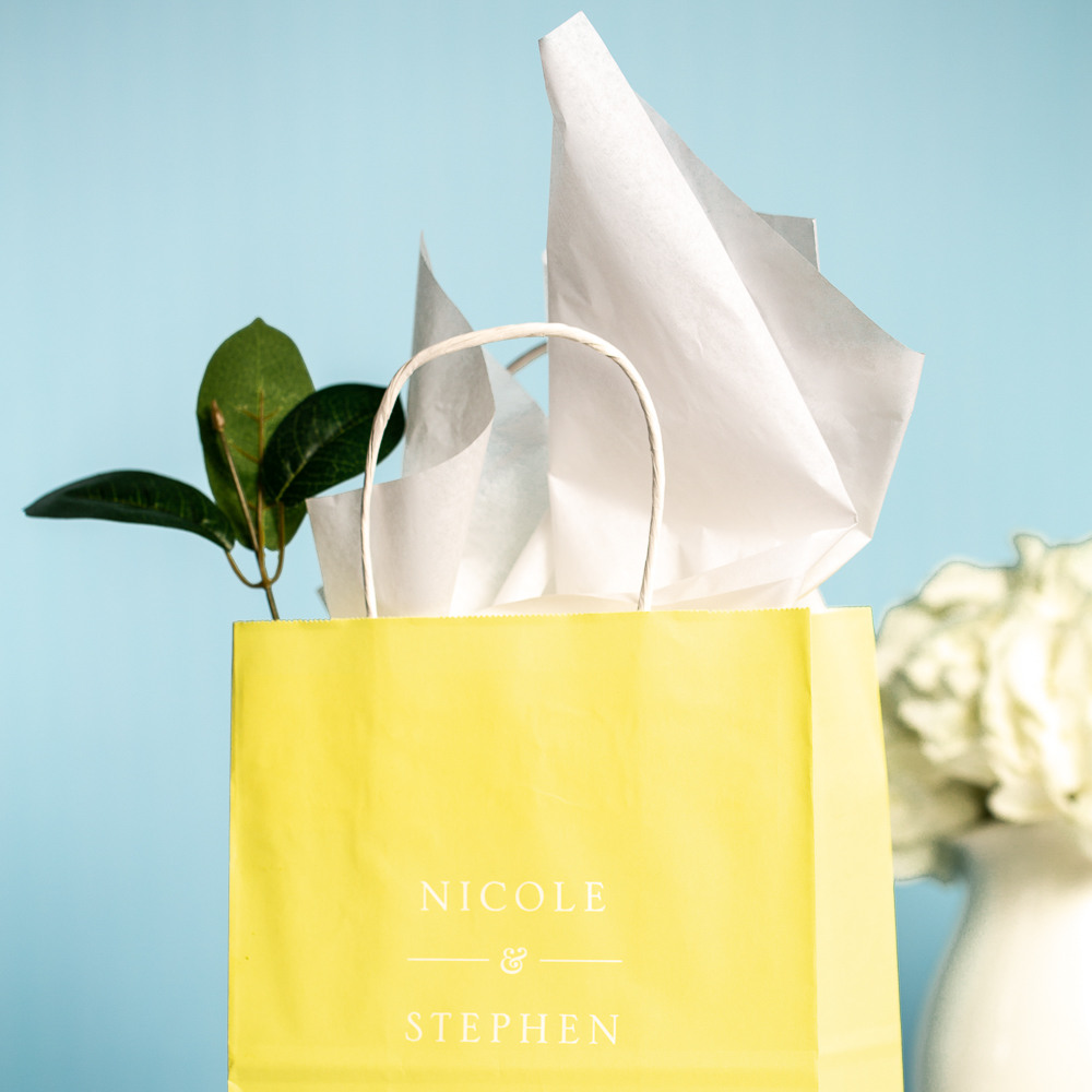 Personalized Citrus Garden Wedding Gift Bags