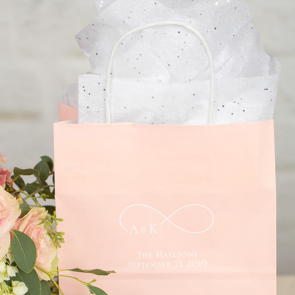 Personalized Eternal Love Wedding Gift Bags