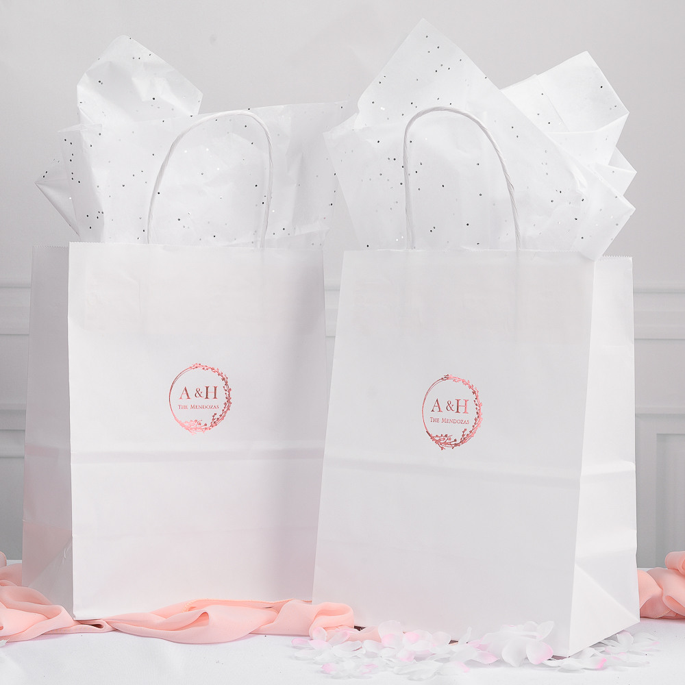 Personalized Cherry Blossom Wedding Gift Bags