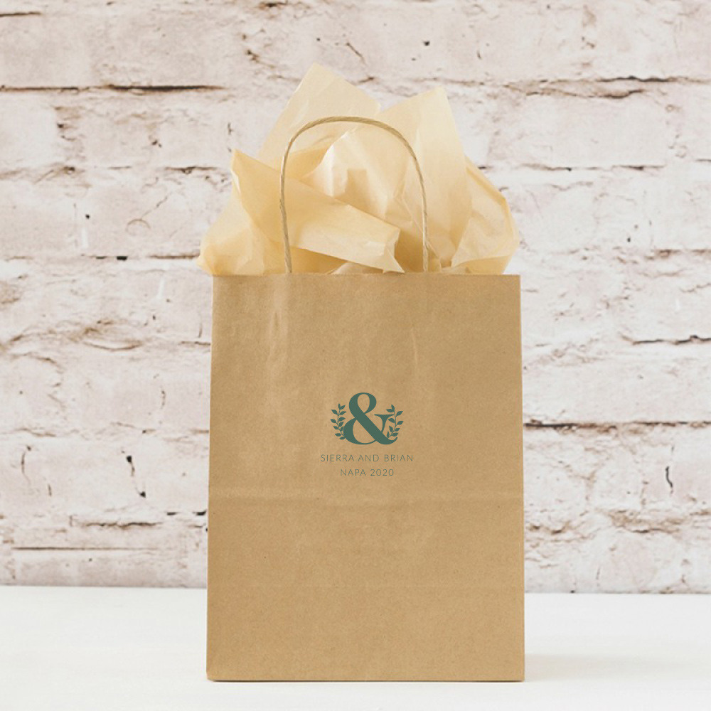 Personalized Eco Ampersand Wedding Gift Bags