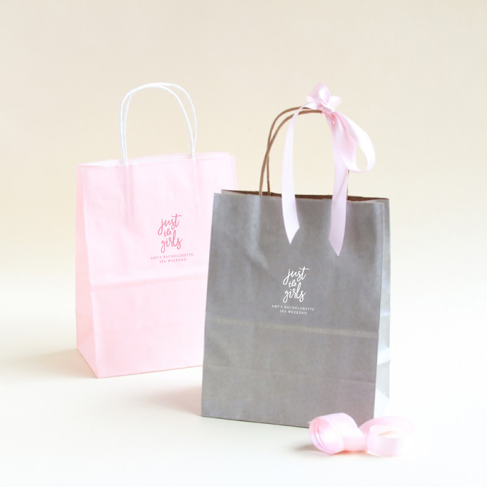 Personalized Just the Girls Wedding Gift Bags