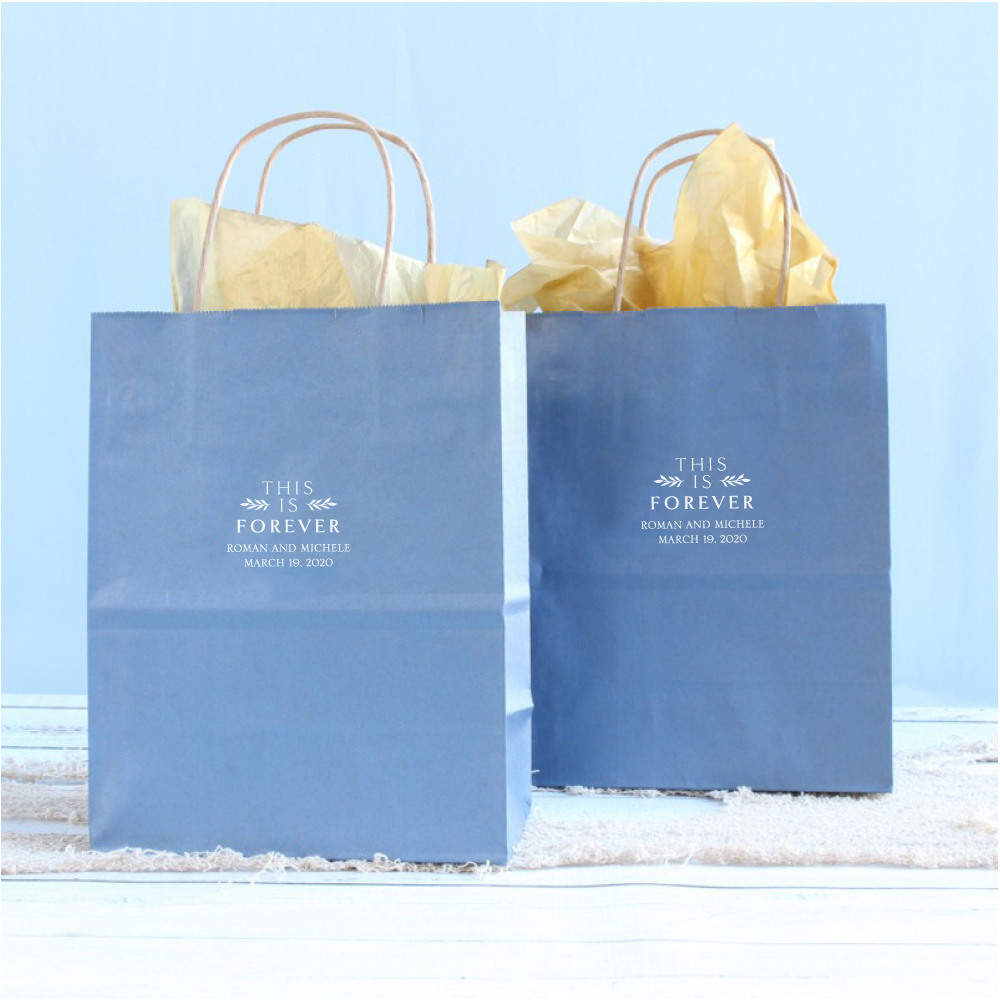 Personalized This is Forever Wedding Gift Bags