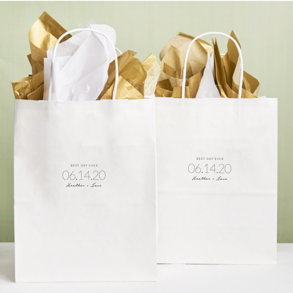 Personalized Wedding Date Wedding Gift Bags