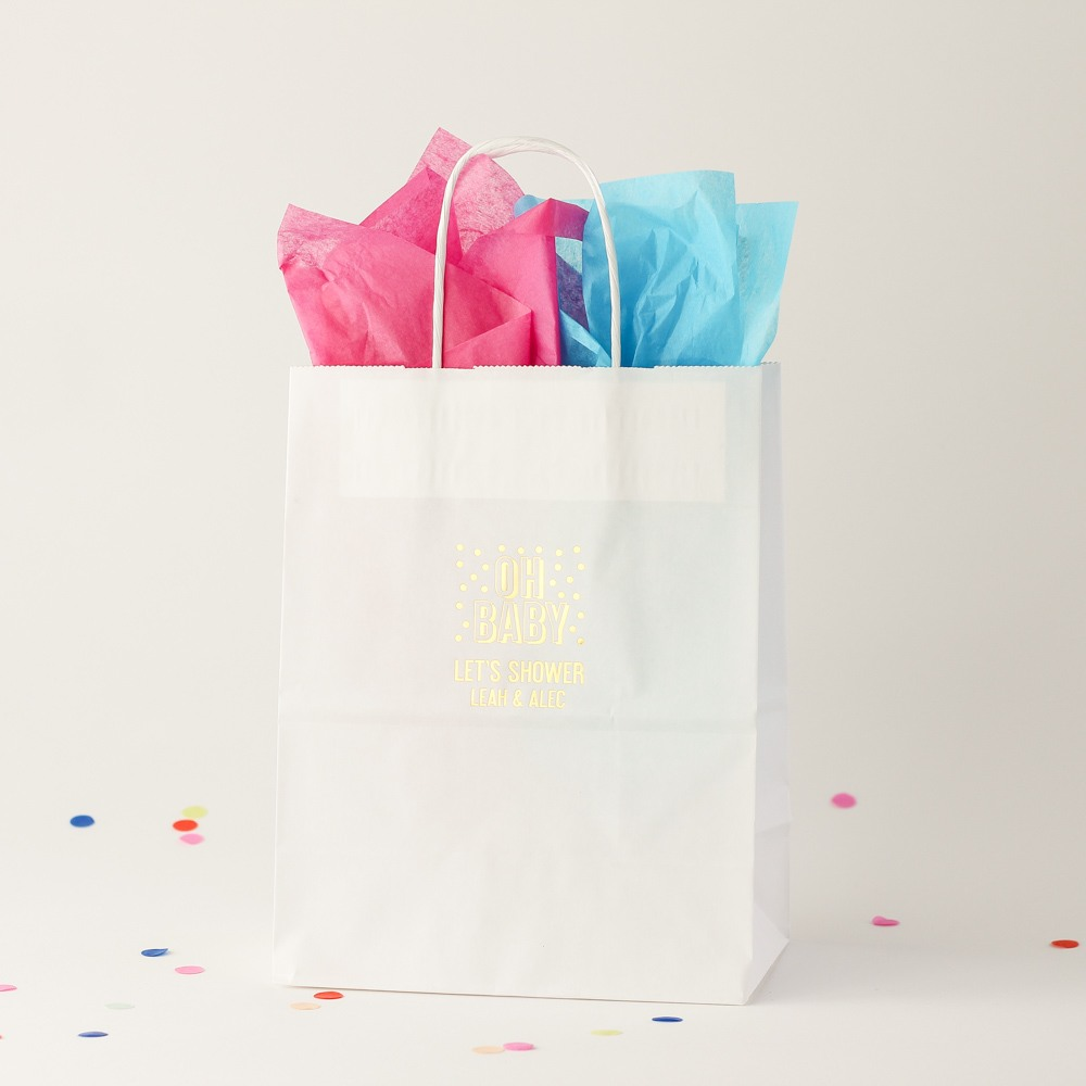 Personalized Oh Baby Gift Bag