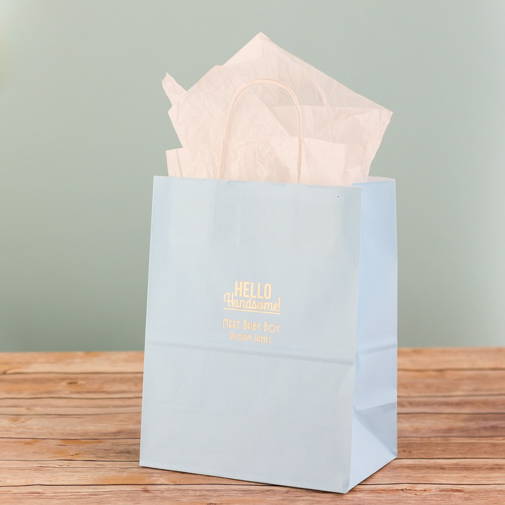 Personalized Hello Handsome Gift Bag