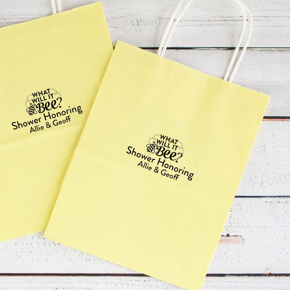 Personalized Bee Reveal Gift Bag