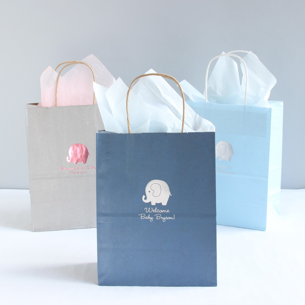 Personalized Baby Shower Gift Bags 6895