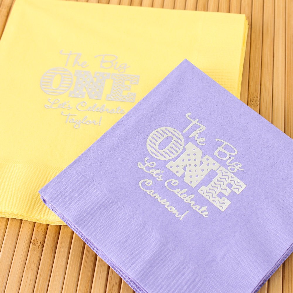 Personalized 1st Birthday Party Napkins